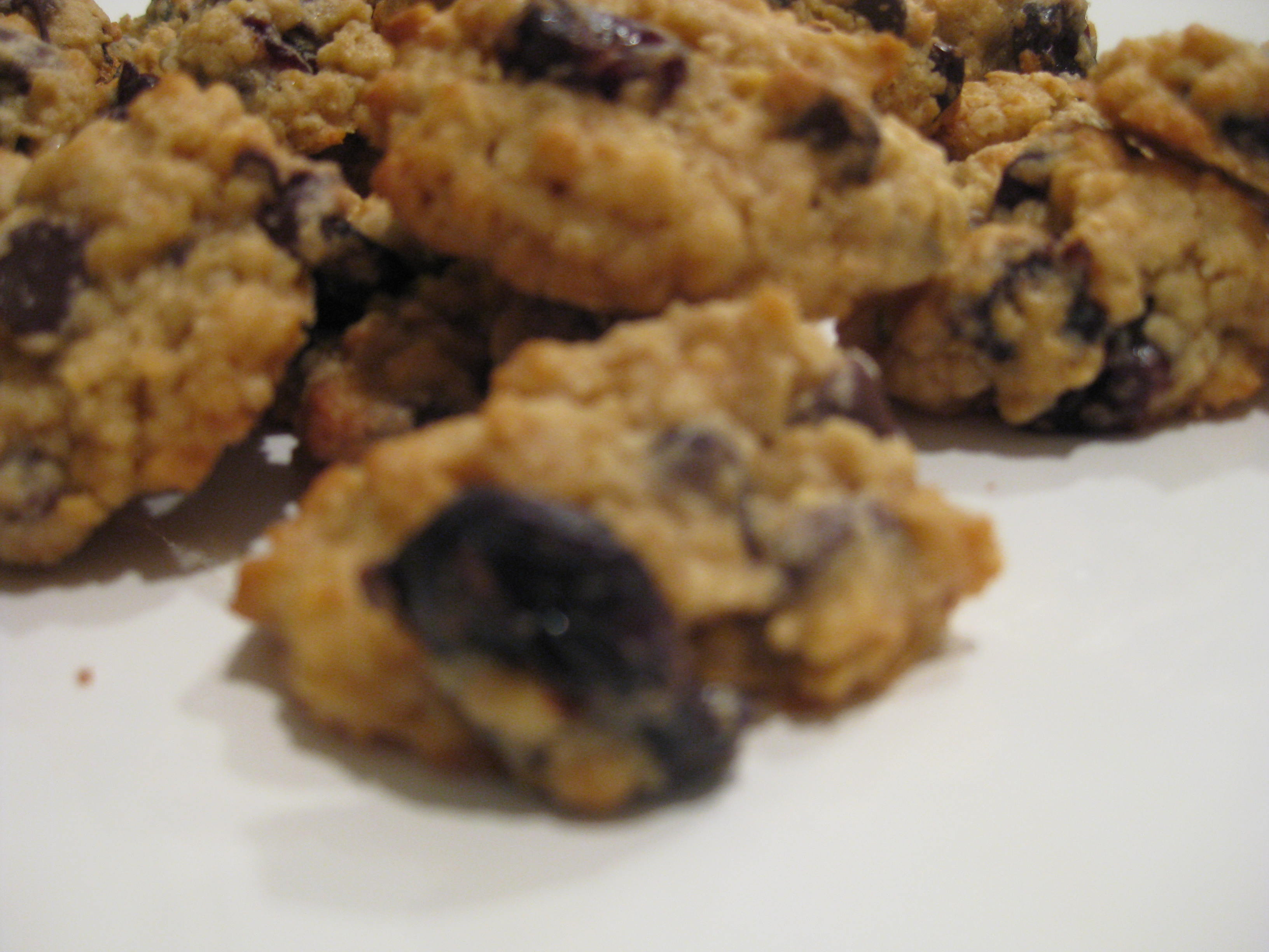 but I figure the oats (whole grains! fibre!) and dried tart cherries ...