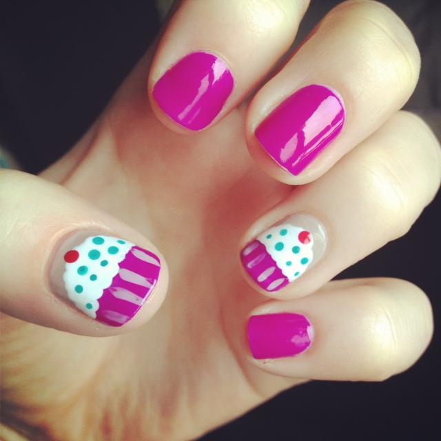 Cupcake Nails: Health & Swellness » Half-moon Manicure