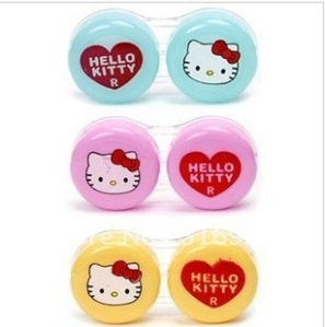Hello-Kitty-Contact-Lens-Case-Dual-Double-Box-Lens-Soaking-Case-lens