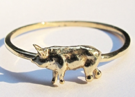 Shop Lost and Found piglet ring