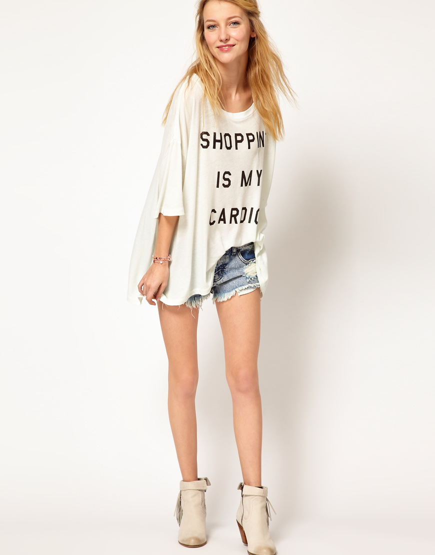 Wildfox Shopping is My Cardio t-shirt Asos